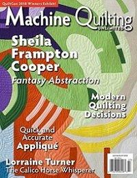 Новый бесплатный файл - Журнал Machine Quilting Unlimited