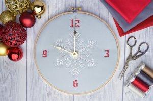 Новый бесплатный файл -  Hatch Snowflake Clock