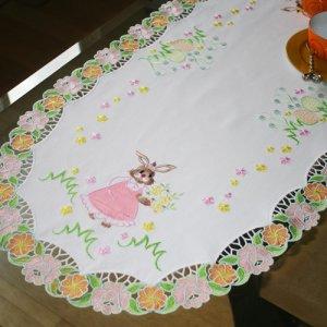 Новый бесплатный файл - Bunny Table Runner for Easter
