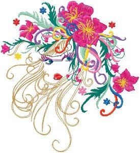 Новый бесплатный файл - Girl Flower