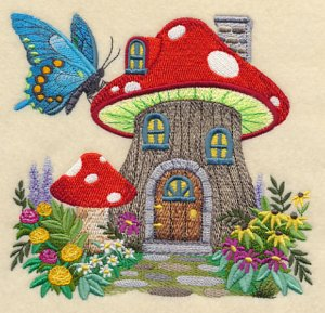 Новый бесплатный файл - Fairy Garden House