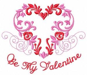 Новый бесплатный файл - Hatch Floral Valentines Heart